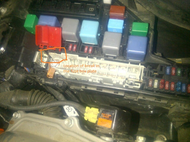 Prius fuse box plate doesnt allow car to start