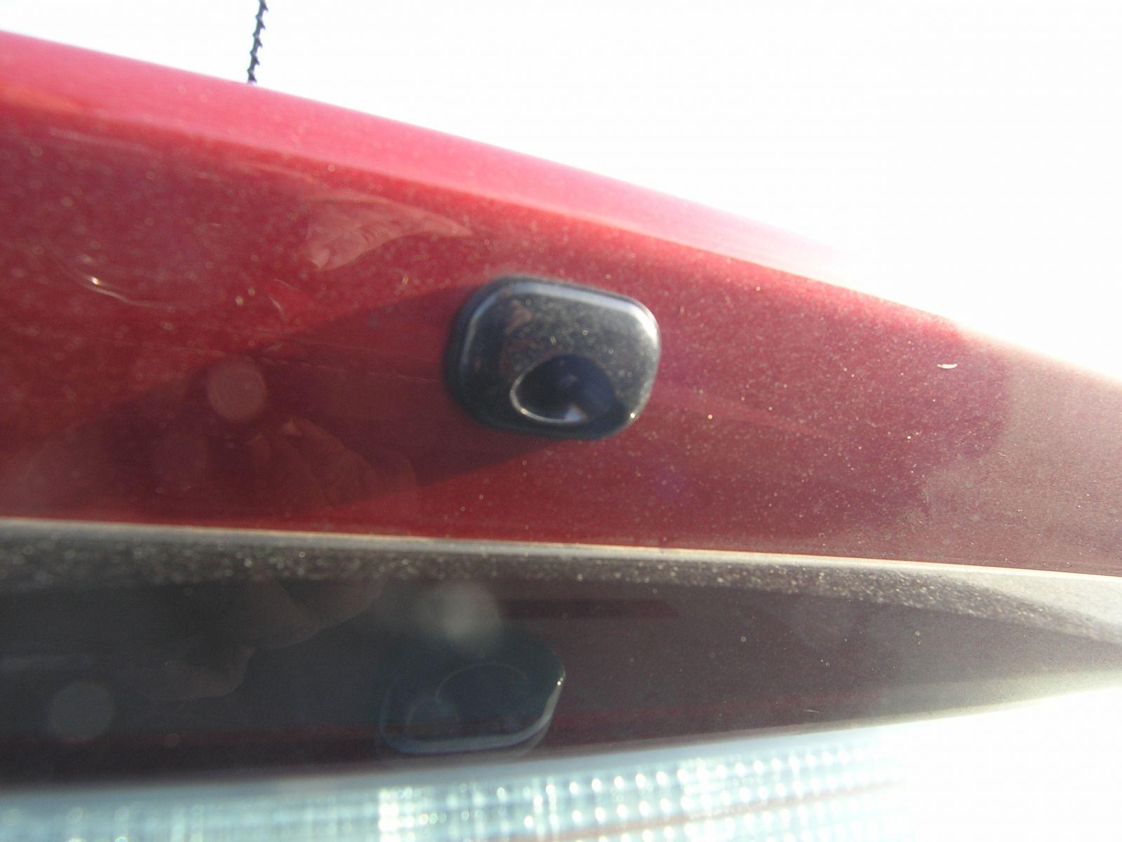 Auris Hybrid Rear view camera sid e view