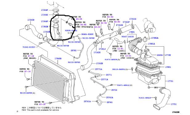 2007 avensis p0098 intake air temperature sensor 2 circuit high