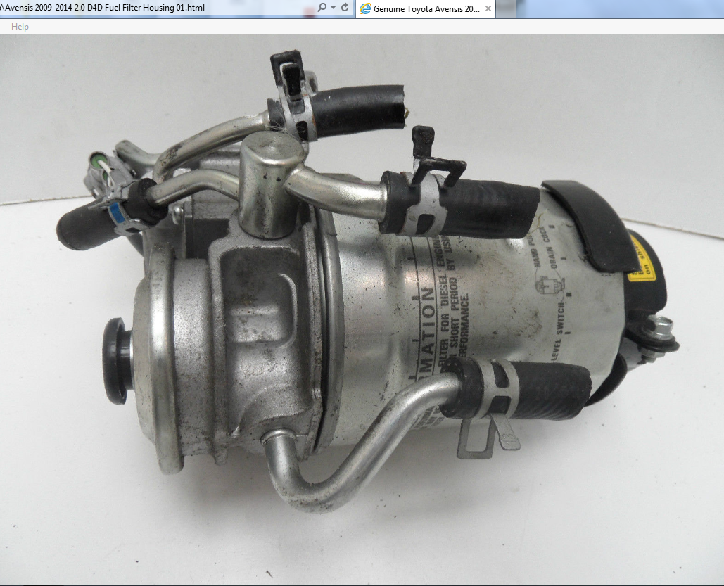 Fuel Filter Flow And Return Pipe Location Avensis Club Toyota Yaris D4d