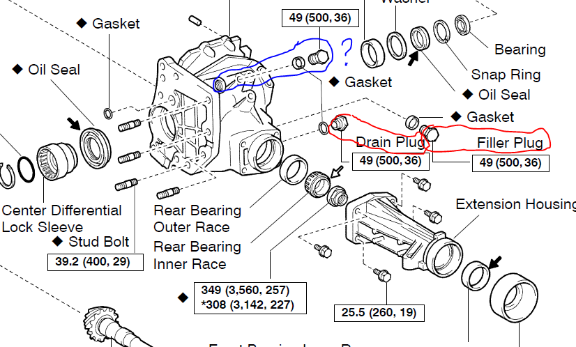 rav4 oil leak from rear transfer case help please   2003
