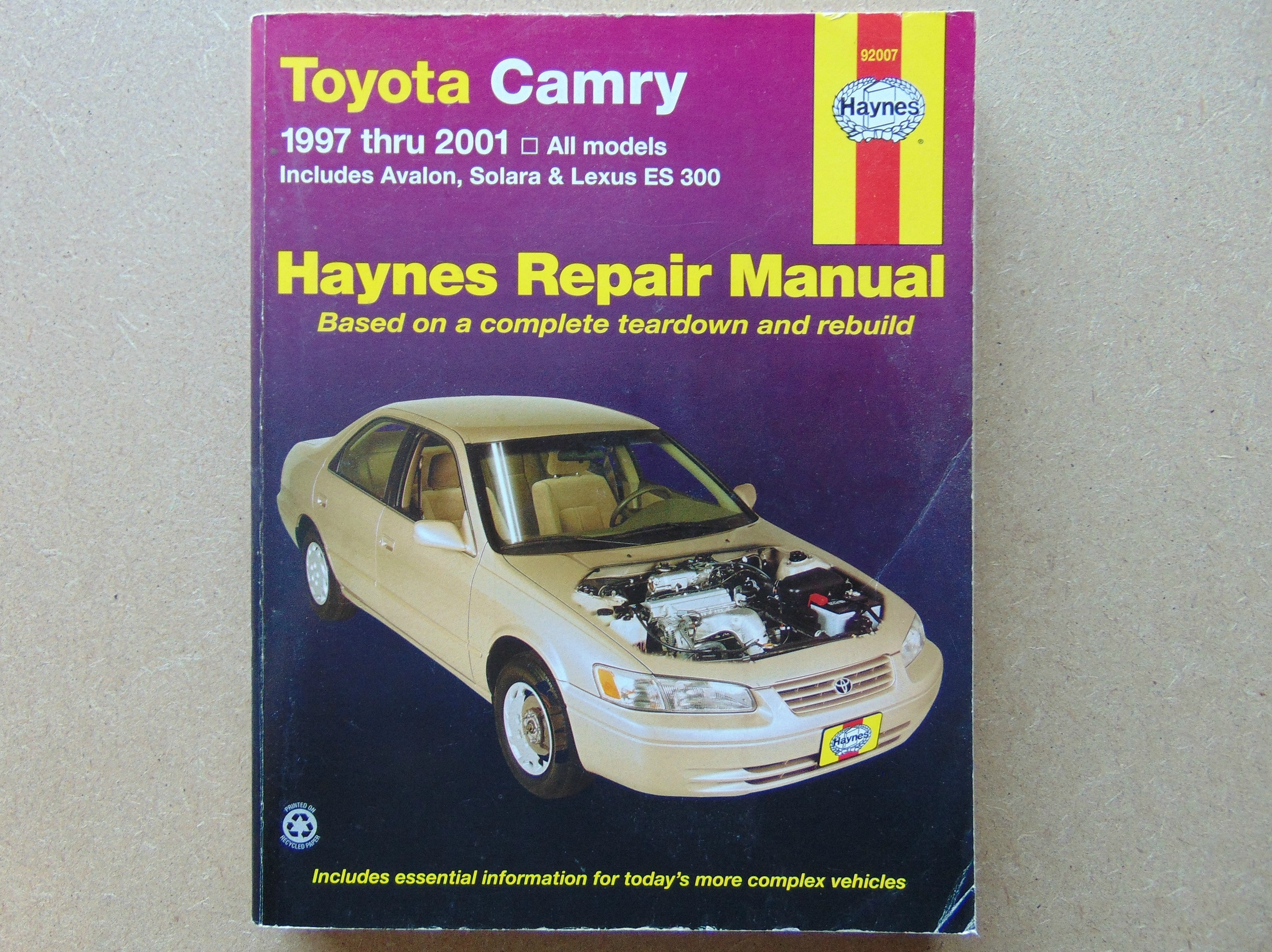 toyota camry haynes manual 1997 through 2001 covers. Black Bedroom Furniture Sets. Home Design Ideas