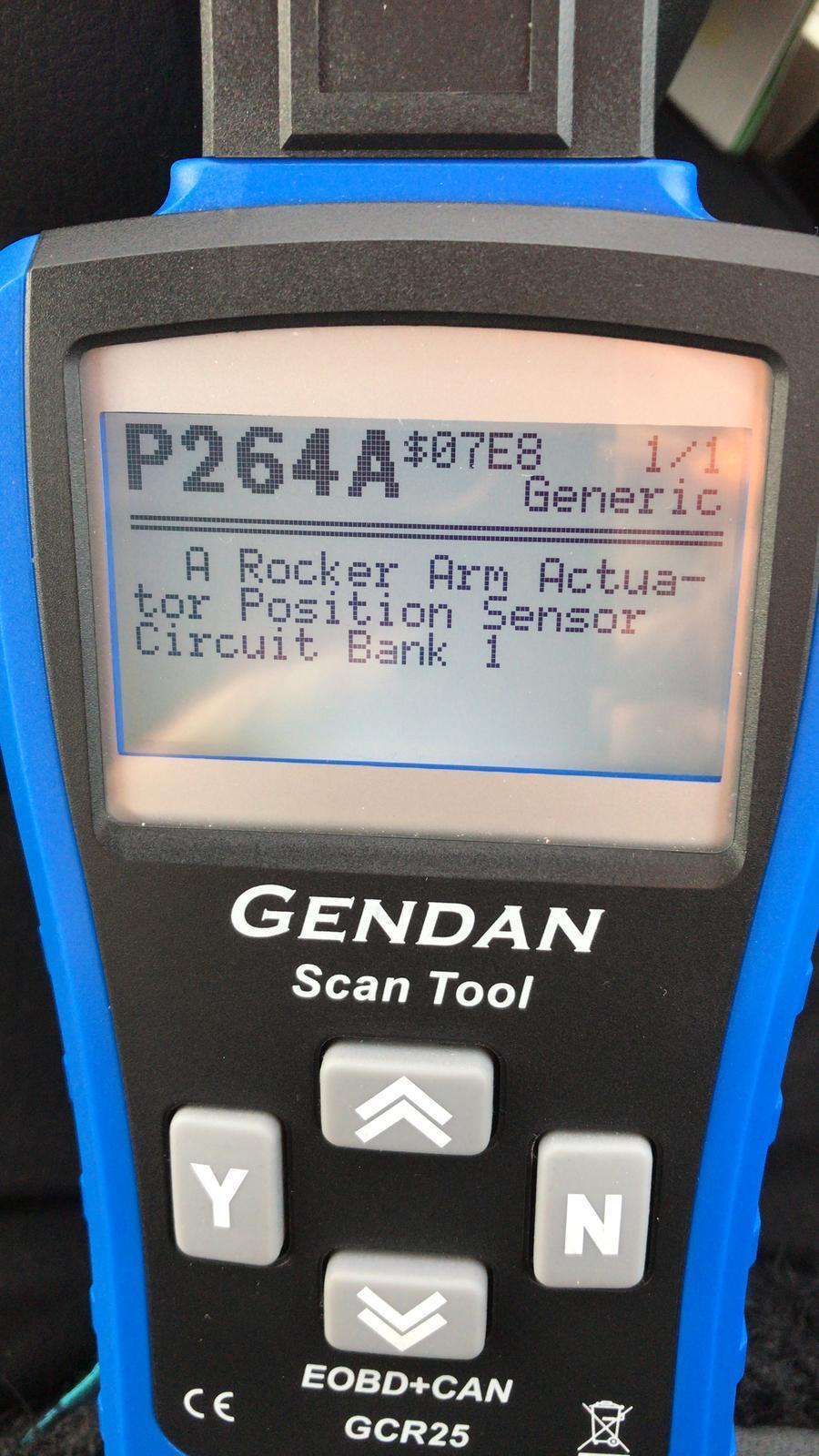 code P264A - 'A' Rocker Arm Actuator Position Sensor Circuit